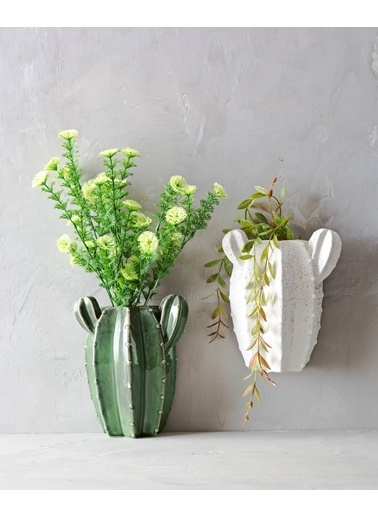 Warm Design Kaktüs Duvar Saksılığı Beyaz